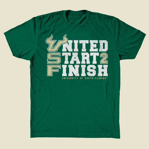 USF United Start 2 Finish Green Shirt