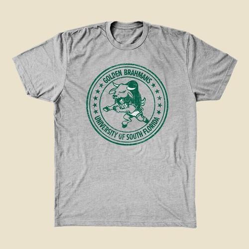 Vintage USF Brahman Bull Grey Shirt