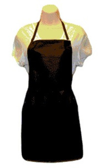 Water Repellent Salon Stylist Apron - Black
