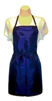 Water Repellent Salon Stylist Apron - Navy (Short)