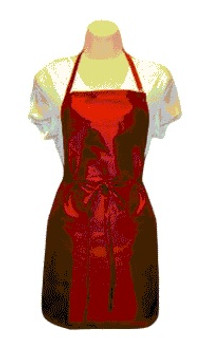 Water Repellent Salon Stylist Apron - Burgundy (Long)