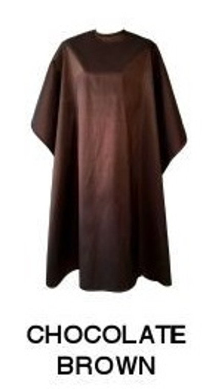 Water Repellent Shampoo/Cutting Cape - Chocolate Brown