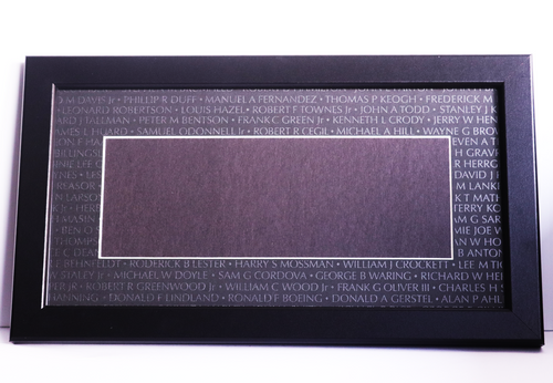 Name Rubbing Frame with Custom Matte
