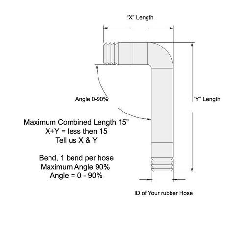 45 mm OD Curved Tube