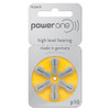 Power One Hearing Aid Batteries (1 Card of 6 Batteries)