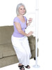 Stander Security Pole & Curve Grab Bar - White