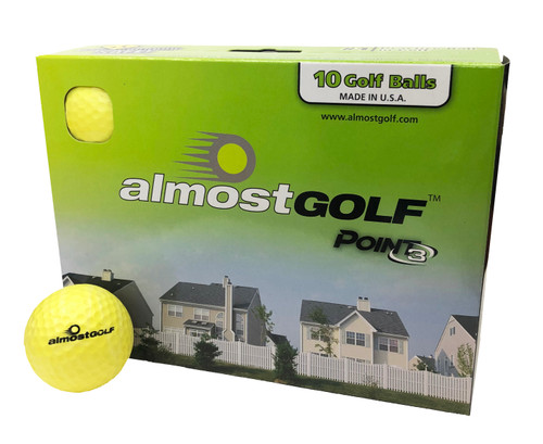 Almost Golf P3 Limited Flight Practice Golf Balls - 10 pack