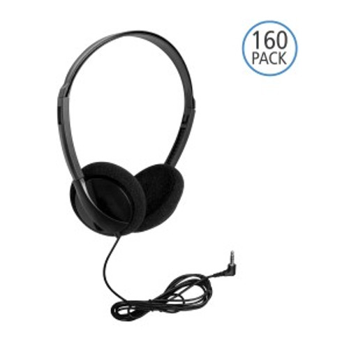HamiltonBuhl Personal Economical Headphones, 160 Pack