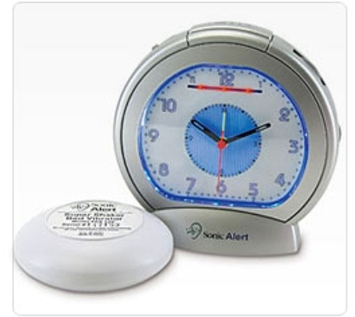 Sonic Alert SBA475SS Analog Alarm Clock with Bed Shaker
