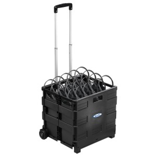 HamiltonBuhl EZ/50 - Rolling Crate packed with 50 Personal Economy Headphones