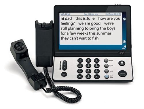 Hamilton CapTel 2400i - Large Display, Touch Screen Captioning Telephone