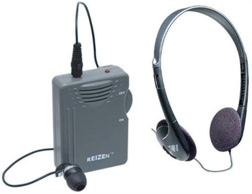 ELITE Package! Reizen Loud Ear Personal Sound Amplifier with Headphone and Earphone