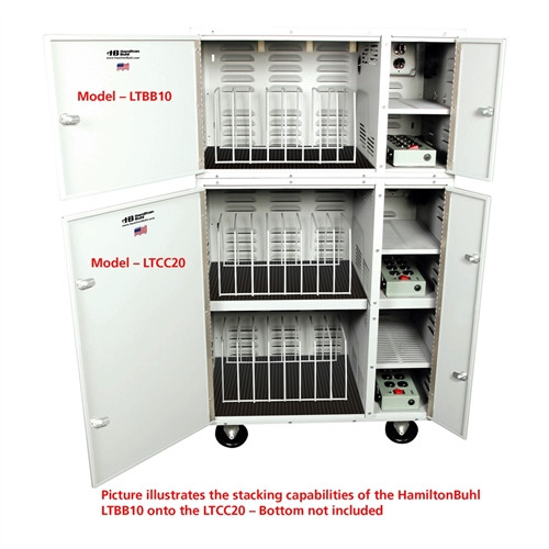 HamiltonBuhl PowerStacker Tower 10-Bay Charging Cabinet