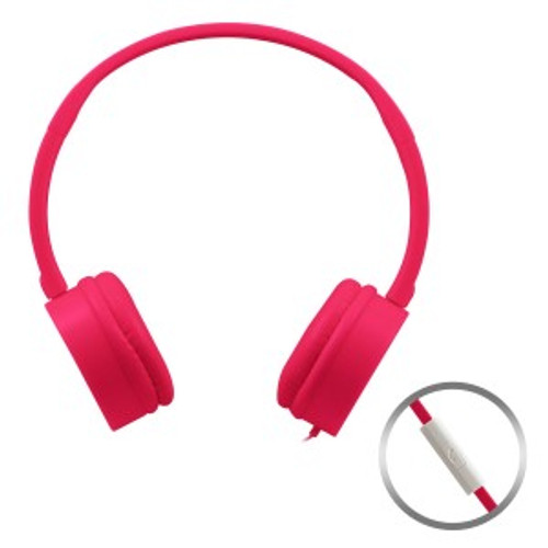 c54b4616f356 HamiltonBuhl Pink KidzPhonz Headset with In-Line Microphone