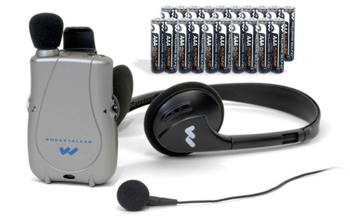 Williams Sound PockeTalker Ultra DUO w/ Headphones, Earbud, & Free Year Supply of Batteries - PKTD1-EH