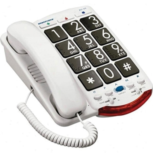 Easy To Use Jumbo Button Amplified Corded Telephone For Mild To