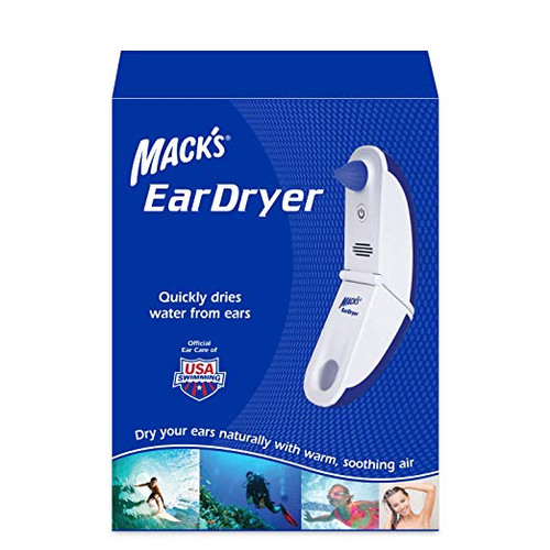 Mack's Ear Dryer - Safely and Effectively Removes Moisture from the Ear