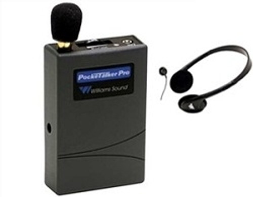 Williams Sound PockeTalker Pro Personal Sound Amplifier - Includes Headphones or Earphone Accessory