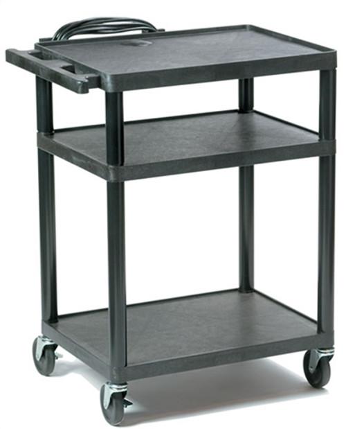 "HamiltonBuhl Plastic AV Cart Adjustable from 16"" to 42"""
