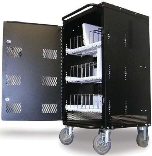 HamiltonBuhl 16 Bay Laptop and Netbook Charging & Storage Cart