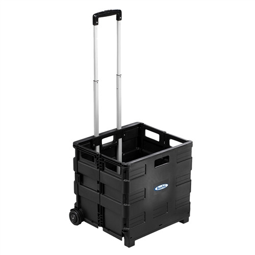 HamiltonBuhl Portable Crate with Extendable Handle