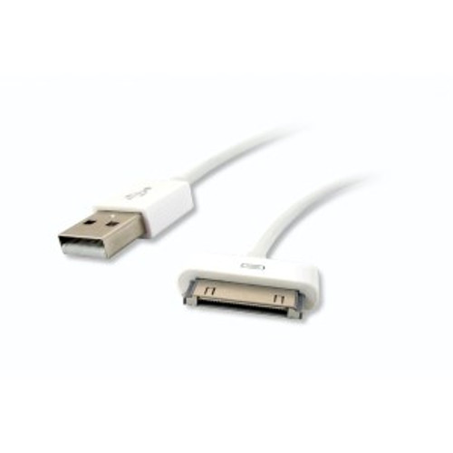 30 Pin Dock Connector to USB A Male Adapter Cable for iPhone 4S, iPad - 3ft.