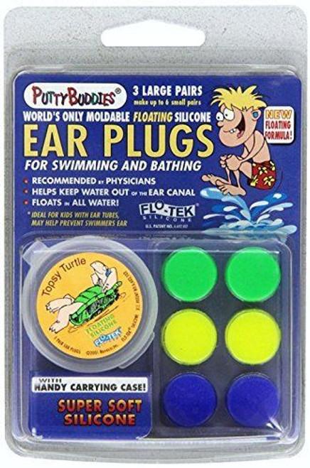 3 Pair Putty Buddies WaterBlock Swimming Ear Plugs