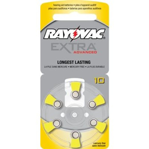 Rayovac Extra Advanced ZM Batteries, size 10 (10 cards of 6 batt)