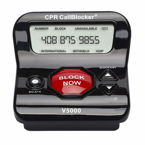 CPR V5000 Call Blocker - America's No 1 Call Blocker. Block All PPI, Political Calls, Scam Calls, Unwanted Calls on Landline Phones. Pre-loaded with 5000 Known Robocall Scam Numbers - Block a Further 1500 Numbers at a Touch of a Button
