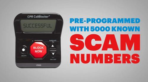 Call Blocker CPR V5000 Block All Robocalls Landline Political Calls Scam Calls