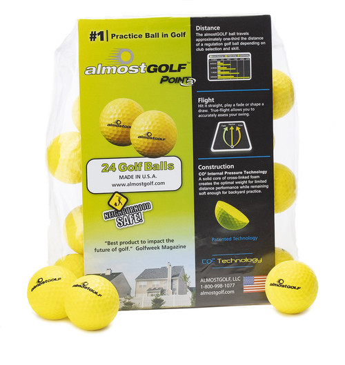 Almost Golf P3 Limited Flight Practice Golf Balls