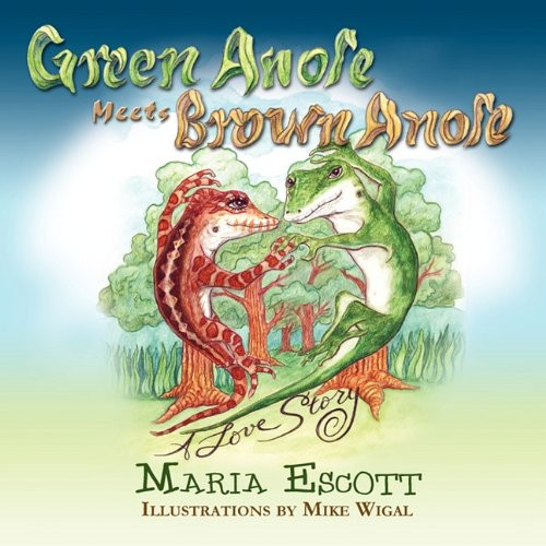 Green Anole Meets Brown Anole, A Love Story