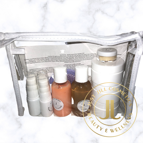 One month supply of 9 products.  Suitable for normal to dry, sensitive or aging skin.  Contains:  Acai Berry Cleanser, Pomegranate Tonic, Calming Serum, Phyto Apple Stem Cell serum, Glycolic Sugar Cane serum, Cranberry Nourishing Creme, Sun Shield, Retinol Night Creme, Eye Creme, Microfiber Cleansing Pad.