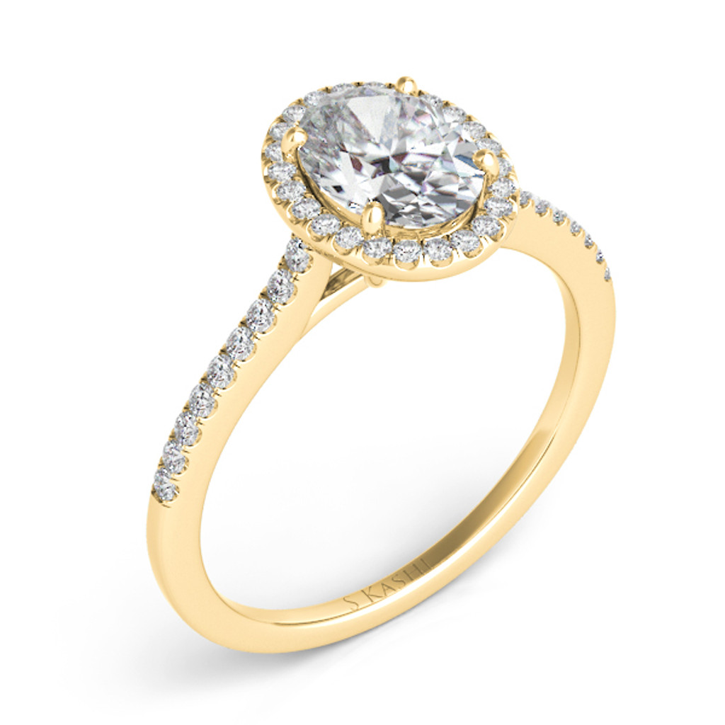 Diamond Engagement Ring  in 14K Yellow Gold   EN7512-6X4MYG