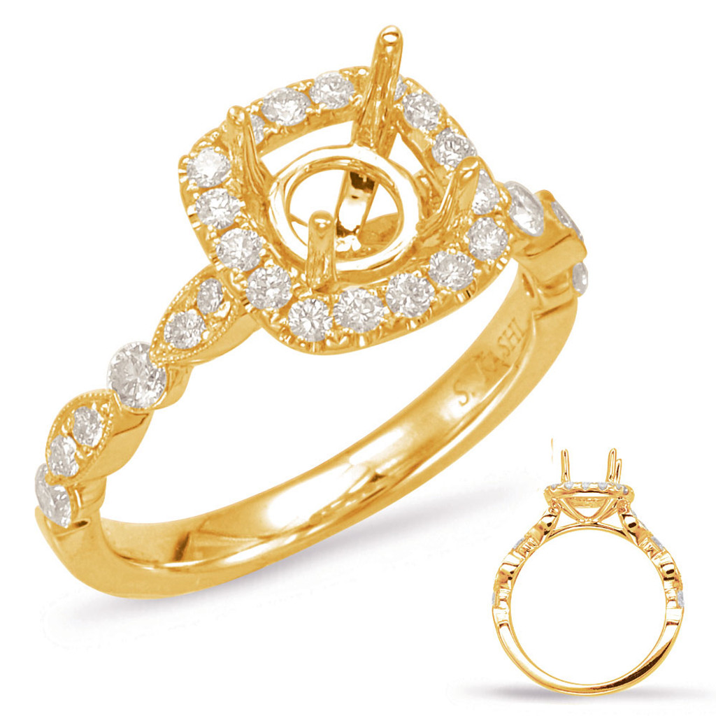 Diamond Engagement Ring  in 14K Yellow Gold   EN7866-75YG