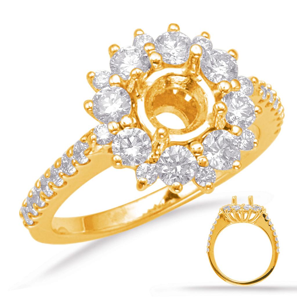 Diamond Engagement Ring  in 14K Yellow Gold    EN8087-1YG