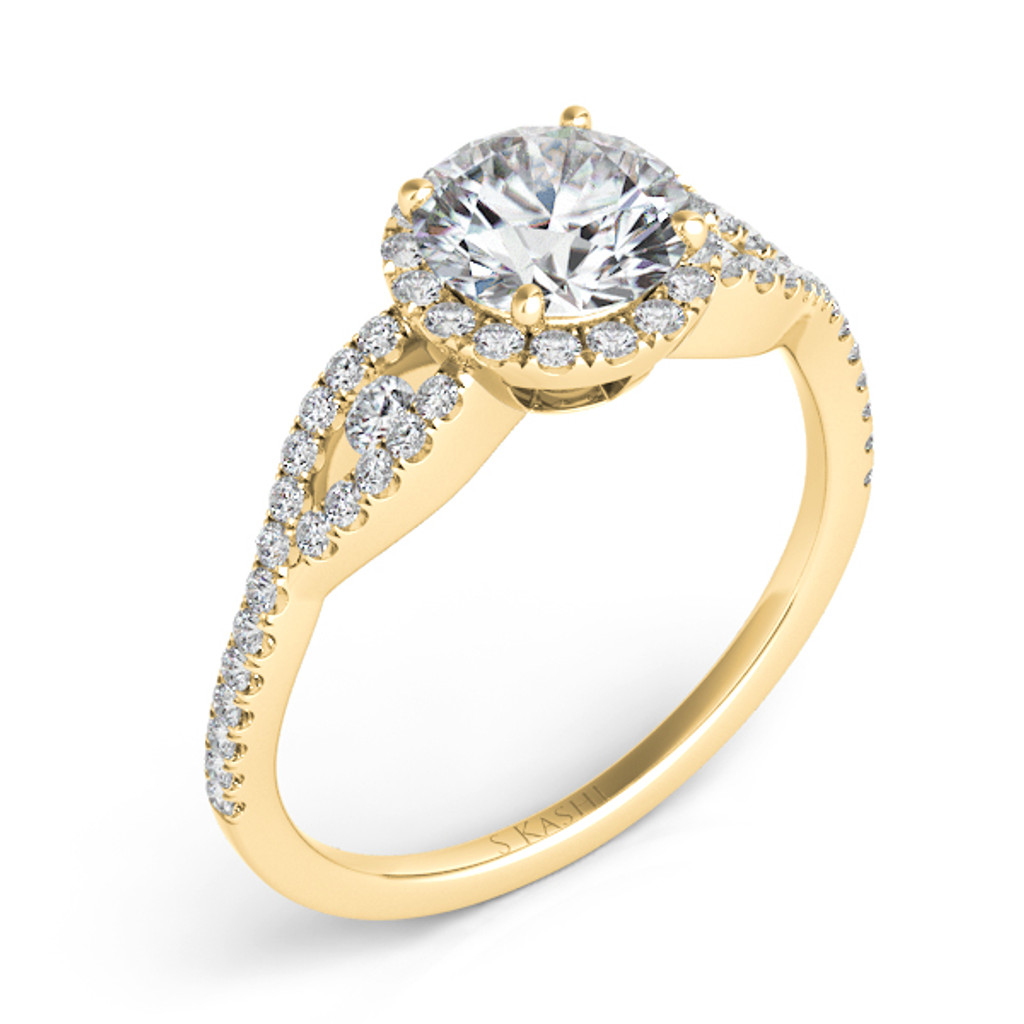 Diamond Engagement Ring  in 14K Yellow Gold    EN7365-50YG