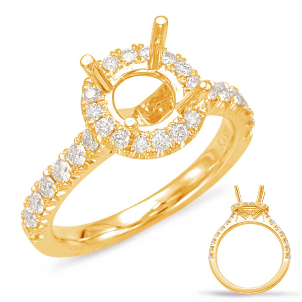 Diamond Engagement Ring  in 14K Yellow Gold    EN7891-75YG