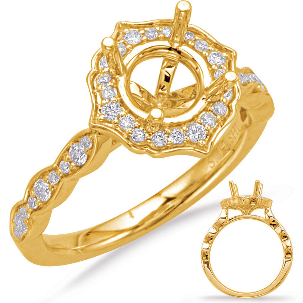 Diamond Engagement Ring  in 14K Yellow Gold    EN8070-1YG