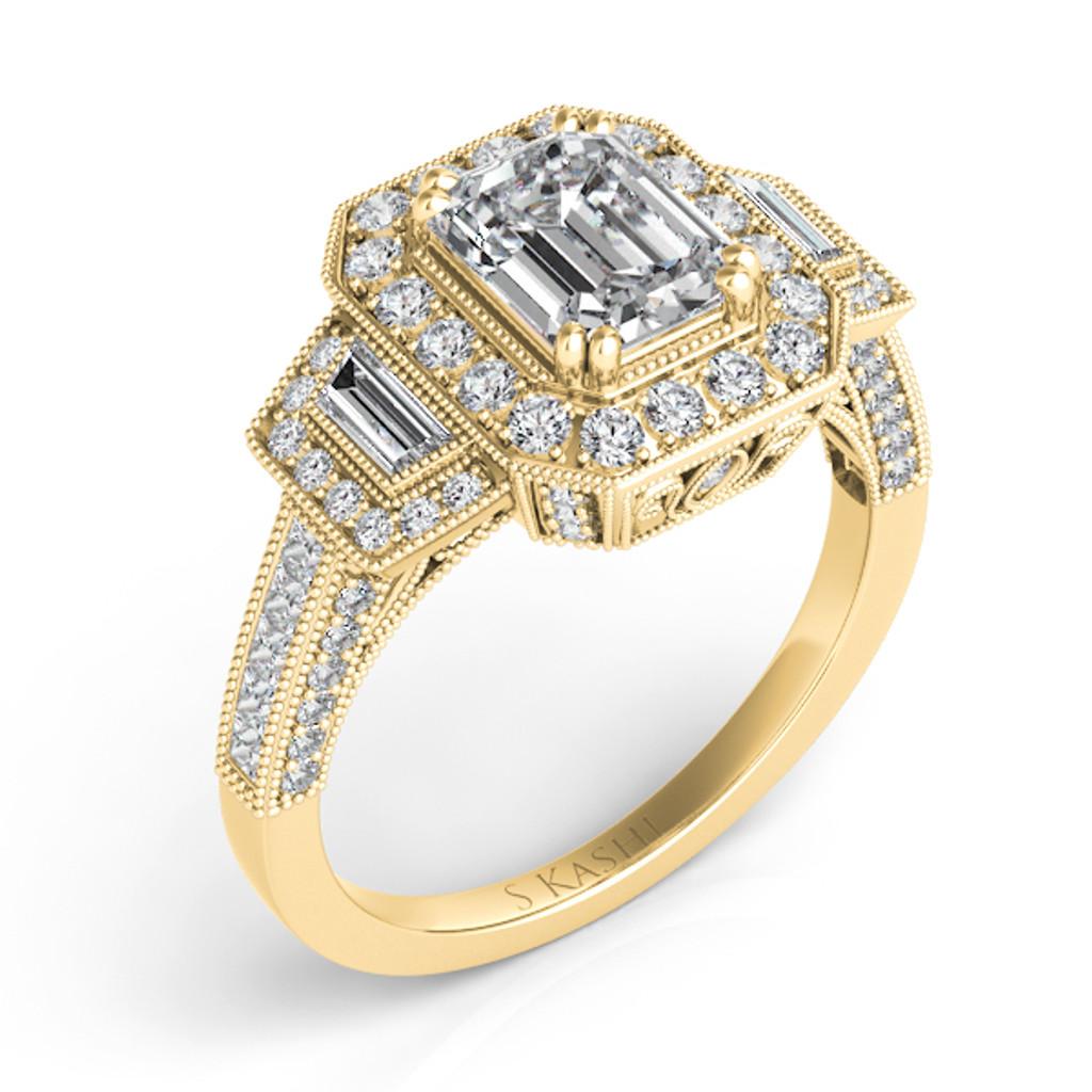 Diamond Engagement Ring  in 14K Yellow Gold    EN7051-8X6MYG