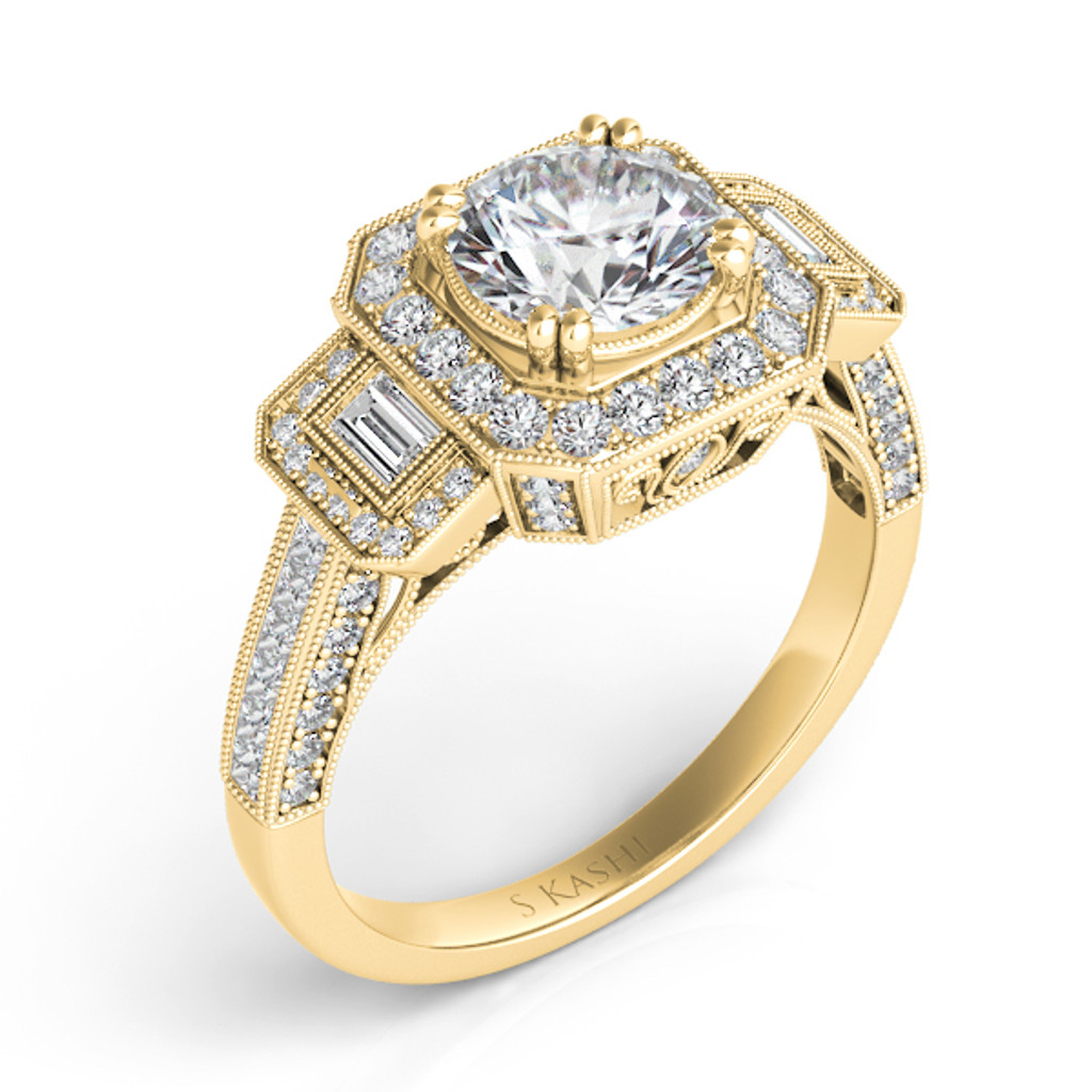 Diamond Engagement Ring  in 14K Yellow Gold    EN7162-50RYG