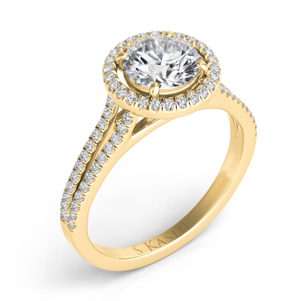 Diamond Engagement Ring  in 14K Yellow Gold    EN7331-15YG