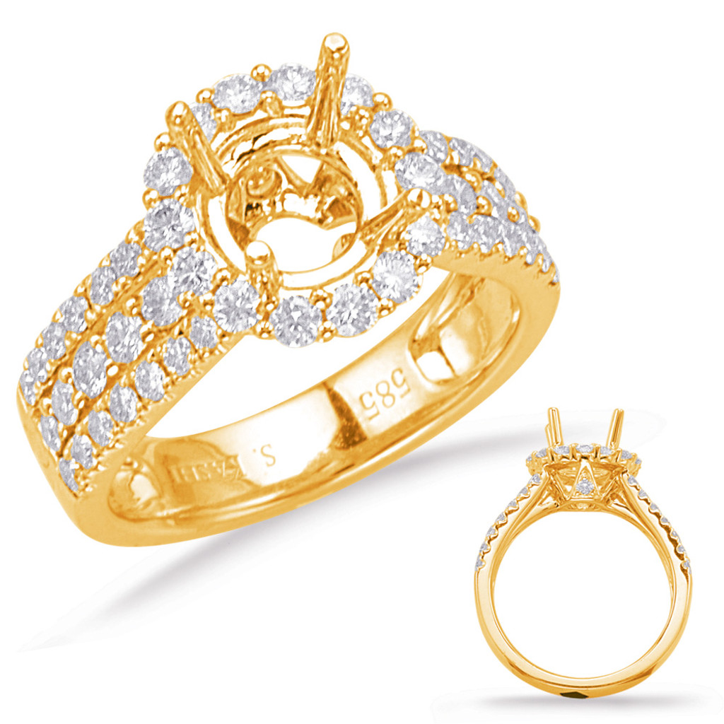 Diamond Engagement Ring  in 14K Yellow Gold    EN7409-50YG