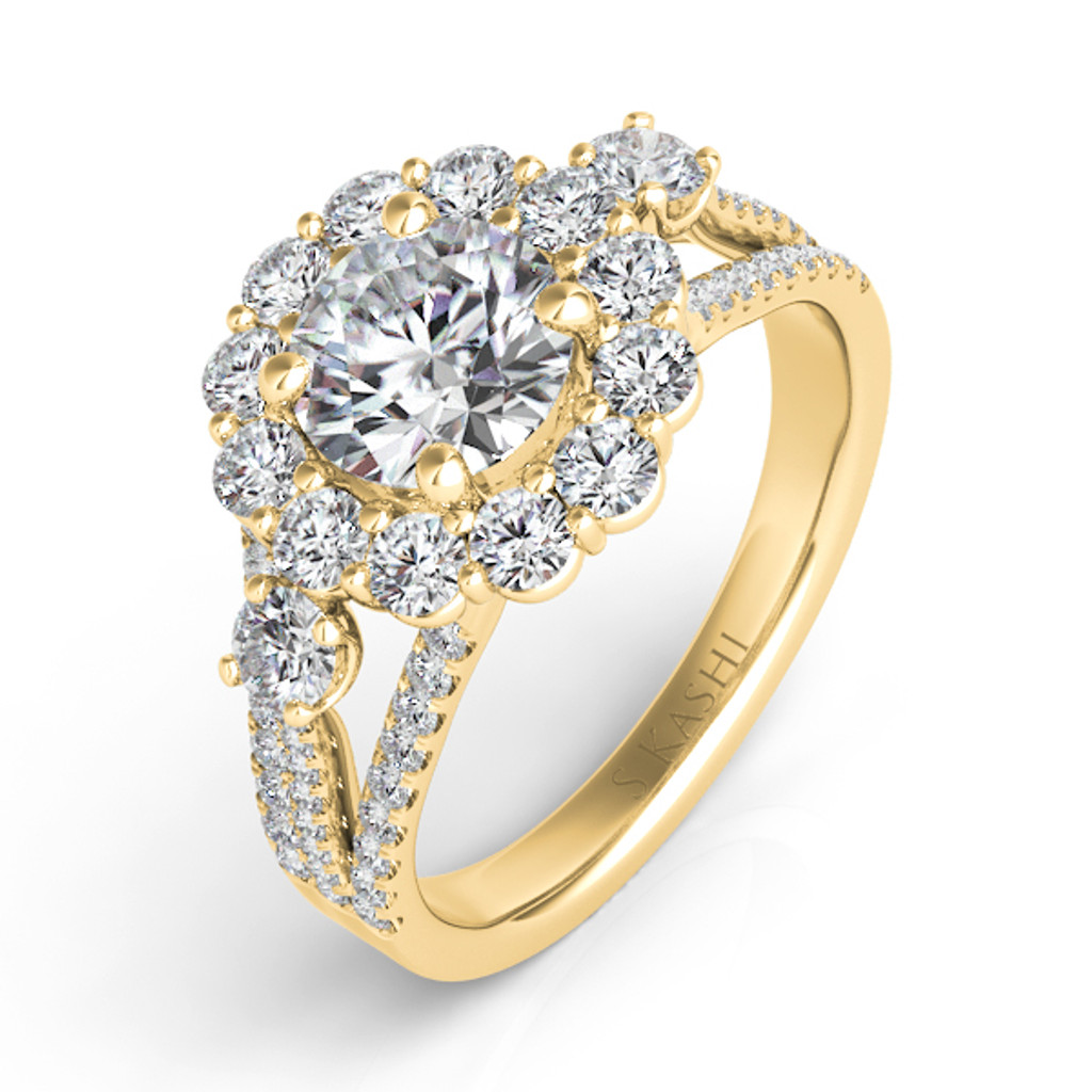 Diamond Engagement Ring  in 14K Yellow Gold    EN7415-2YG