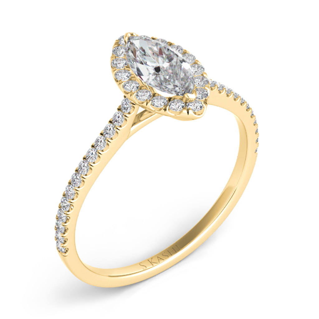Diamond Engagement Ring  in 14K Yellow Gold    EN7599-12X6MYG