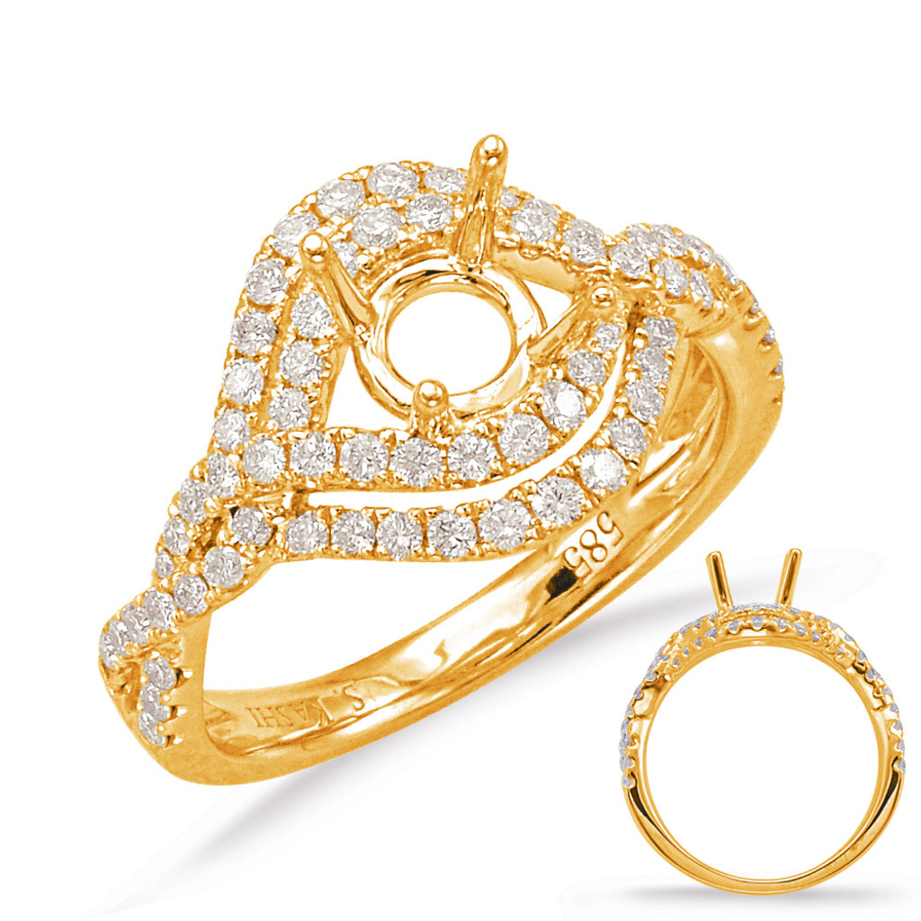 Diamond Engagement Ring  in 14K Yellow Gold    EN7788-1YG