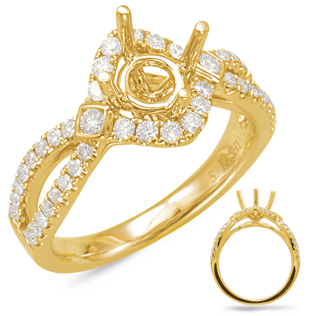 Diamond Engagement Ring  in 14K Yellow Gold    EN7838-125YG