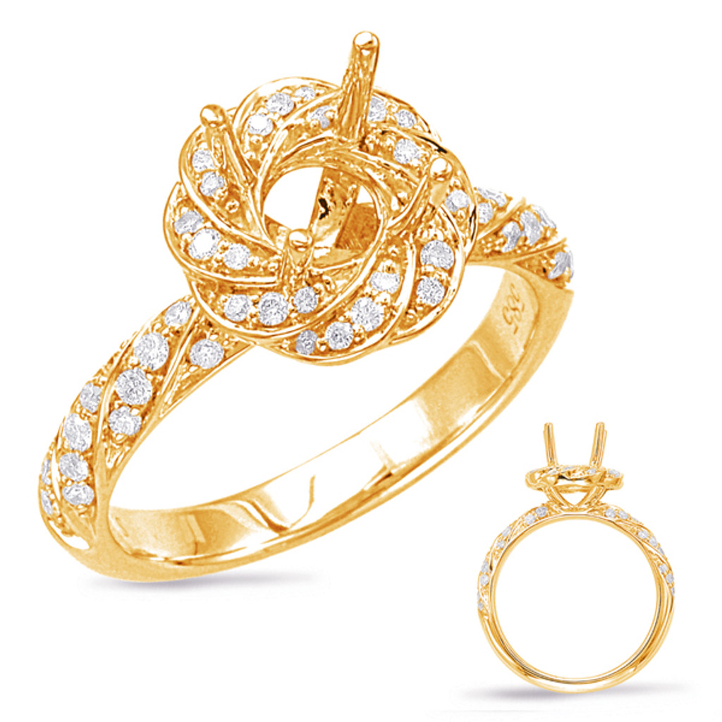 Diamond Engagement Ring  in 14K Yellow Gold    EN7868-75YG