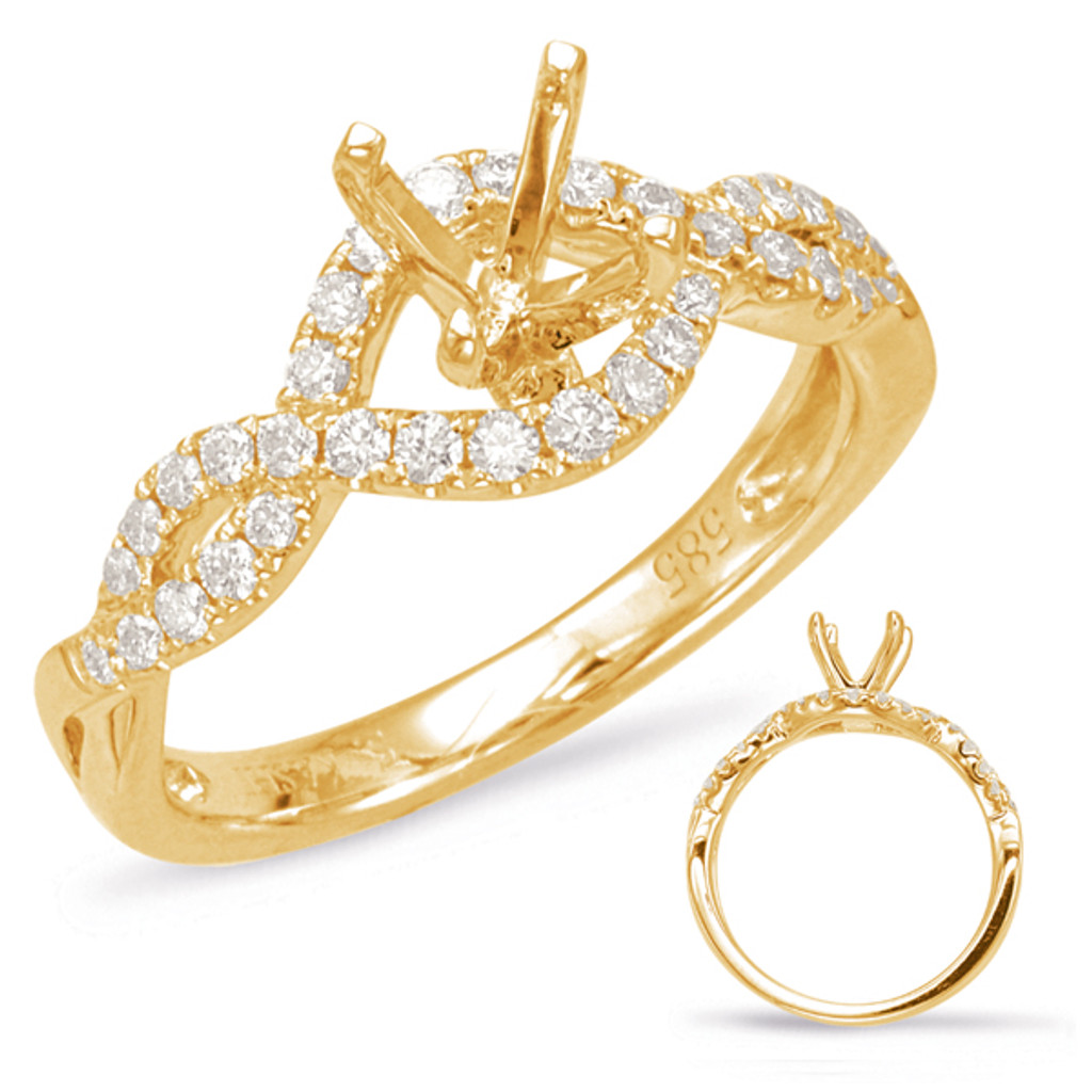 Diamond Engagement Ring  in 14K Yellow Gold    EN7869-75YG