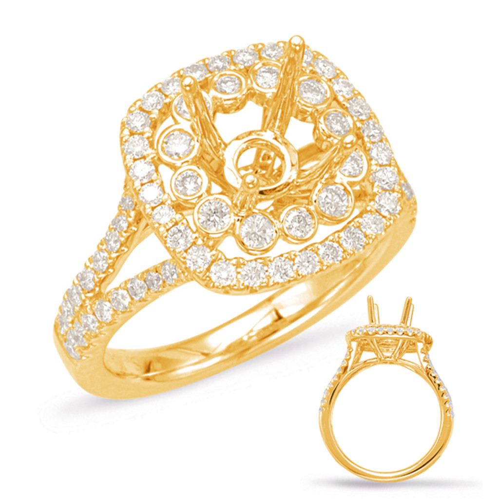 Diamond Engagement Ring  in 14K Yellow Gold    EN7905-75YG